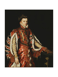 Portrait of Elizabeth of Valois, Queen of Spain Giclee Print by Antonis		 Mor