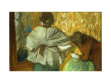 At the Couturiere, the Fitting Giclee Print by Edgar Degas