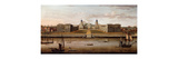View of The Royal Hospital, Greenwich, from the Thames Premium Giclee Print by Samuel Scott