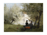 Along the River Giclee Print by Jules Frederic		 Ballavoine