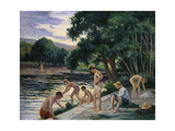 Bathers on the Banks of the Cure Lámina giclée por Maximilien Luce