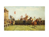The Grand National Steeplechase: Valentine's Jump Giclee Print by John Sanderson		 Wells