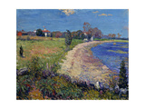 Curving Beach, New England Giclee Print by William James		 Glackens