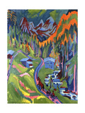 Sertig Path in Summer Reproduction giclée Premium par Ernst Ludwig Kirchner