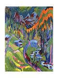 Sertig Path in Summer Giclée-Druck von Ernst Ludwig Kirchner
