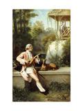The Courtship Affiches par Felix Henri Giacomotti