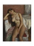 Young Woman Relaxing Giclee Print by Pichot Girones Ramon
