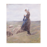 Shepherdess Print by Max		 Liebermann