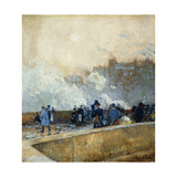 Windy Day, Paris Prints by Childe Hassam