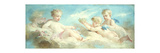 Putti Frolicking in the Clouds Premium Giclee Print by Charles		 Chaplin
