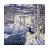 Mountain Stream Print by Jonas		 Lie