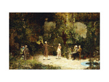 The Fencing Lesson Giclee Print by Walter		 Gay