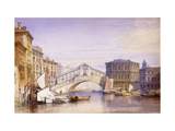The Rialto from the Grand Canal Giclee Print by William Callow