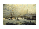 The Port of Hamburg Prints by Georg		 Schmitz