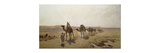 An Arab Caravan Premium Giclee Print by Ludwig Hans Fischer