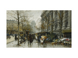 La Madelaine, Paris Prints by Eugene		 Galien-Laloue