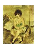 Portrait de Lucy Krohg Giclee Print by Jules Pascin