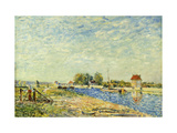 The Canal at Loing Giclee Print by Alfred		 Sisley