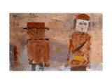 Bride and Groom in Autumn of Life Premium Giclee Print by Paul Klee
