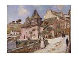 Breton Town Scene Giclee Print by Jean-Francois Raffaelli