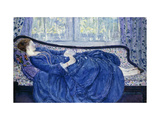 Girl in Blue Print by Frederick Carl		 Frieseke