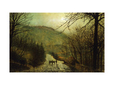 Forge Valley, Scarboro' Prints by Grimshaw John Atkinson