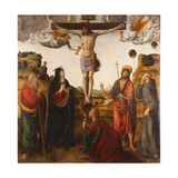 The Crucifixion with the Madonna, Saints John the Baptist, Mary Magdalen, Andrew and Francis Giclee Print by Cosimo		 Rosselli