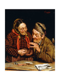 The Wine Merchant Giclee Print by Pompeo		 Massani