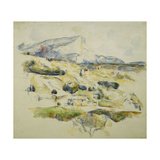 Mount Sainte Victoire looking towards Lauves Giclee Print by Paul Cézanne