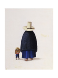 Mother and Child. From 'Types and Costumes of Lima: an album of sixty eight studies Lámina giclée