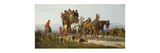 Passing the Hunt Premium Giclee Print by George Wright