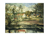In the Valley of the Oise Impression giclée par Paul Cézanne