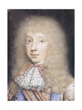Portrait of Edward Stuart, with Flowing Hair and Lace Stock Giclee Print by Edmund		 Ashfield