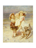 A Day at the Beach Poster by Frederick		 Morgan