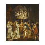 The Marraige by Proxy of Princess Maria de' Medici and King Henry IV of France Giclee Print by Peter Paul		 Rubens