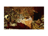 Dressing Table (in the flowers); Le Table de Toilette (Dans le Fleurs) Giclee Print by Edouard		 Vuillard