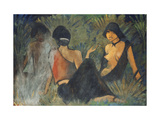 Gypsies by the Campfire Giclee Print by Otto		 Mueller