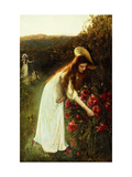 Picking Flowers Poster by Albert		 Lynch