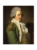 Portrait of the Artist Wearing a Green Jacket and Holding a Cane Giclee Print by Joseph		 Ducreux