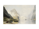 A Fjord Scene Giclee Print by Georg Anton		 Rasmussen
