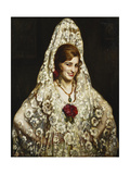A Spanish Beauty Giclee Print by Pedro Antonio Martinez