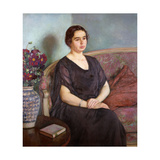 Portrait de Madame Dubois Giclee Print by Theo Rysselberghe