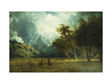 Storm on Laramie Peak Posters by Albert Bierstadt