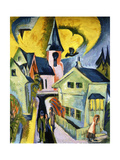 Konigstein with Red Church Giclee Print by Ernst Ludwig Kirchner