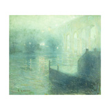 Harlem River at Night Prints by Ernest		 Lawson