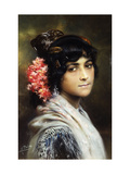 A Spanish Beauty Giclee Print by Pena Munoz Maximino