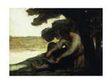 After the Swim Giclee Print by Honore		 Daumier