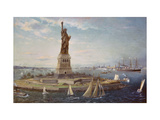 Liberty Island, New York Harbor Giclee Print by Fred		 Pansing