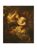 Fear of the Storm Giclee Print by Jean-Baptiste Greuze
