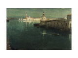 St. Giorgio from the Housetops Giclee Print by Albert Goodwin